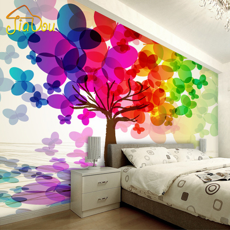 Buy customized any size 3d wall mural for 3d wallpaper for bedroom walls