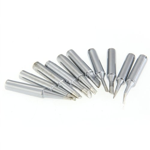 10 Tip Set Tips Soldering Tip Set for Soldering Iron 900-T-I/ BK/ 1.6D/ 2.4D/ 3.0D/ 2C/ 3C/ 4C NEW