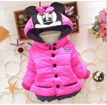 2016 children outerwear baby girls cotton Hooded coats Winter Jacket Kids Coat children's winter clothing Girls Down & Parkas(China (Mainland))