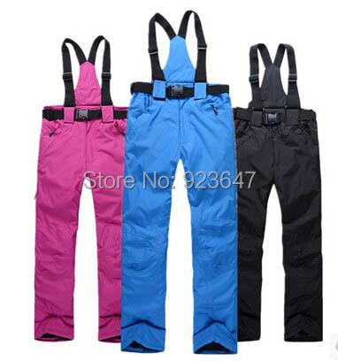Free ship Hot sell low price ski trousers winter outdoor skiing cycling hiking waterproof&windproof thermal women&men ski pant(China (Mainland))