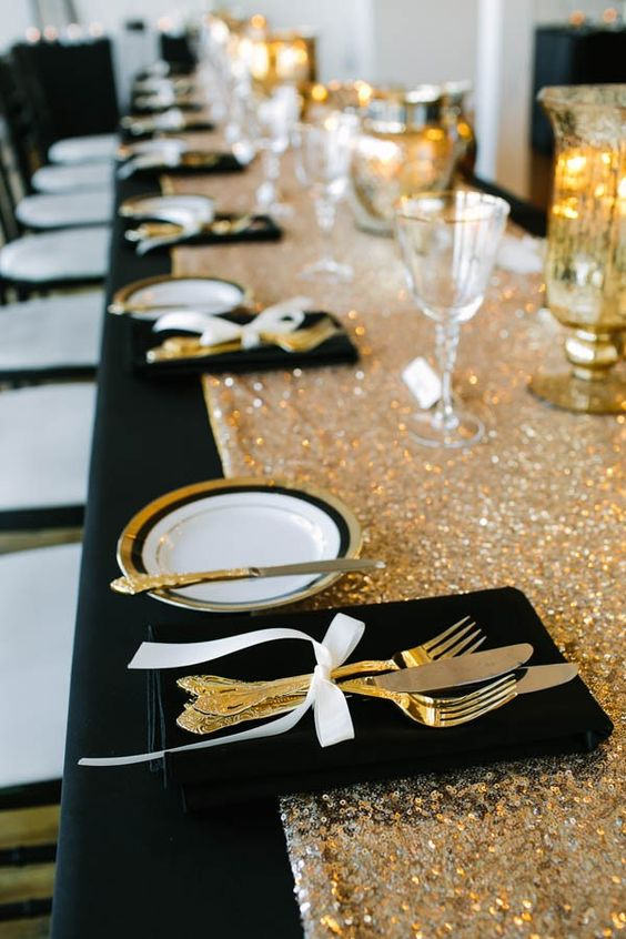 Sparkly bling gold table runner for photograph baby birthday evening prom party formal occasion wedding decoration(China (Mainland))