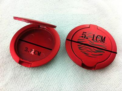 Red Eyeshadow Container, Rouge box, Empty Eyeshadow Jar, Red Color Box with zebra, Clamshell box, Glitter powder box, 50pc/Lot(China (Mainland))