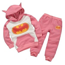 Retail 2016 New Fashion Children Clothing Children Clothing Tracksuit Batman Hoodies + Sweatpants Kids Costume Boys Clothing set