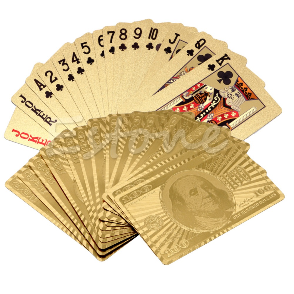 New Golden Game Poker Table Card Games Playing Travel Special Gift For Women Men<br><br>Aliexpress