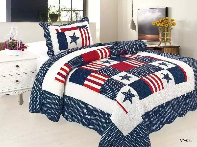 100% cotton cartoon British style star bedding quilt, size 180x200cm summer quilted bedspreads,star design quilt comforter(China (Mainland))