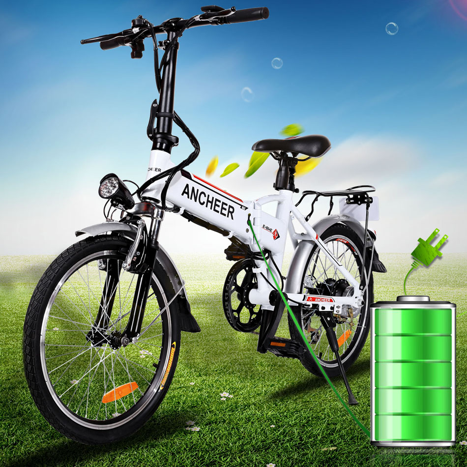 Ancheer 18.7 inch 7 Speed Folding Lithium Battery Electric Bike Bicycle Aluminum Alloy Mountain Bike Road Cycling Bicycle Unisex(China (Mainland))