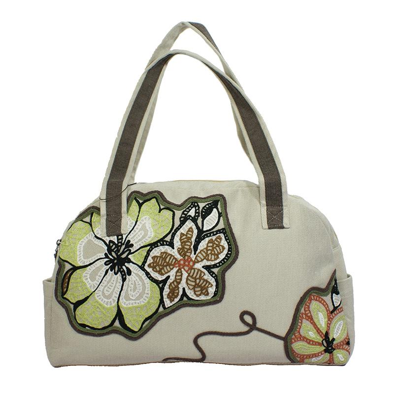 (MOQ 1 piece) cotton fabric casual handbag, shoulder bag and handbags for women casual tote(China (Mainland))