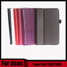 "3 in 1 New Pu Leather Case Flip Cover For Asus FonePad ME371 ME371MG 7 inch Tablet 7"" + Screen Fillm + Stylus Free Shipping"