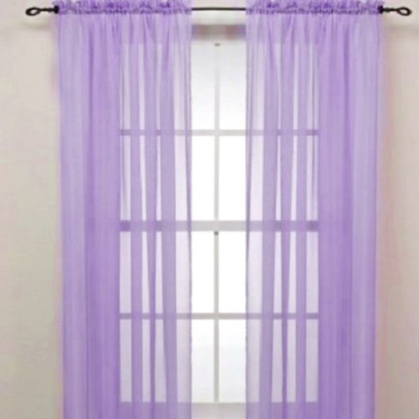 Colorful Door Window Curtains For Living Rroom Drape Panel or Scarf Assorted Scarf Sheer Voile 19