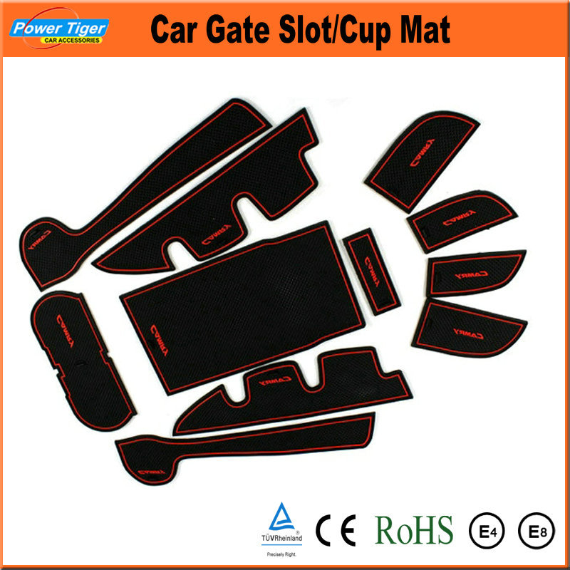 Car Accessories Silicone Cup Mat Non-slip Mat Car Door Gate Slot Pad Mat For TOYOTA Camry,EZ(China (Mainland))