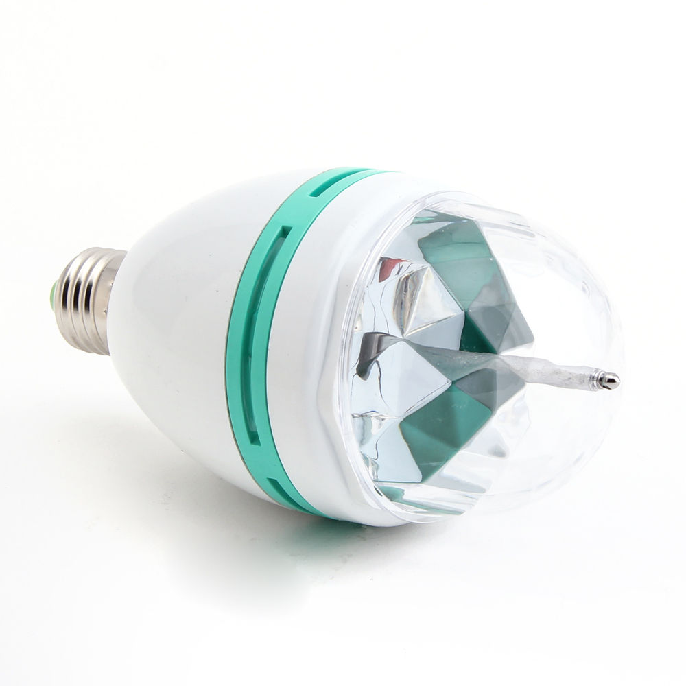 3W E27 RGB Crystal Ball Rotating LED Stage Light Bulb for Club DJ Disco Party(China (Mainland))