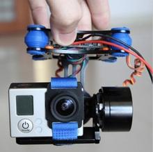 CNC FPV Quadcopter BGC 2 Axis Metal Brushless Gimbal w/ Controller for GoPro 3 Camera DJI Phantom 1 2 Walkera X350 Pro