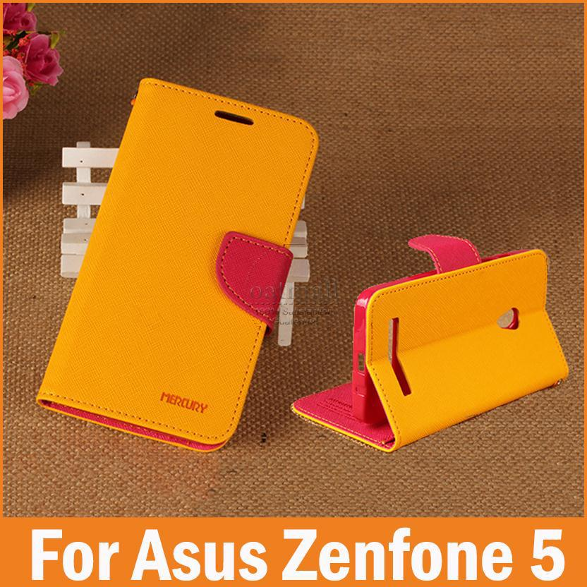 New 2015 PU Leather Flip Cover Asus Zenfone 5 Case Zenfone5 Case Capa funda celular Top Quality Phone Mobile Bags Accessories(China (Mainland))