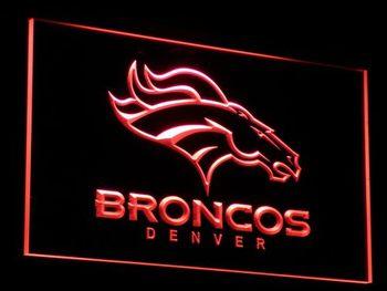 b067 Denver Broncos Bar Pub Logo LED Neon Light Sign
