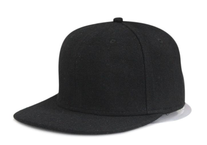 cool fashion black gray no logo winter wool flat brim