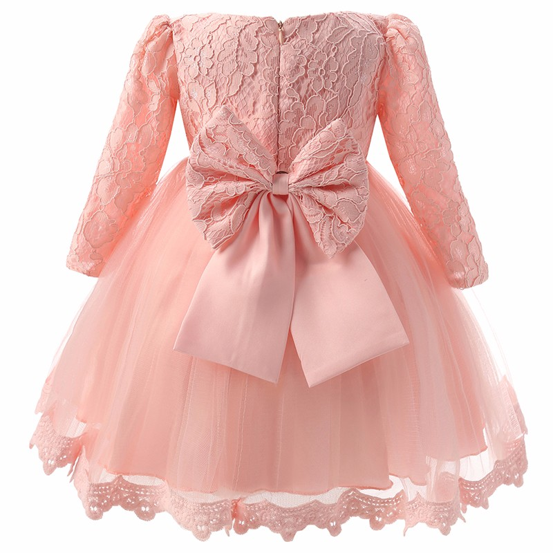 Winter Baby Girl Christening Gown Infant Princess Dress 1st Birthday Outfits Children Kids Party Wear Dress Girl Formal Vestido