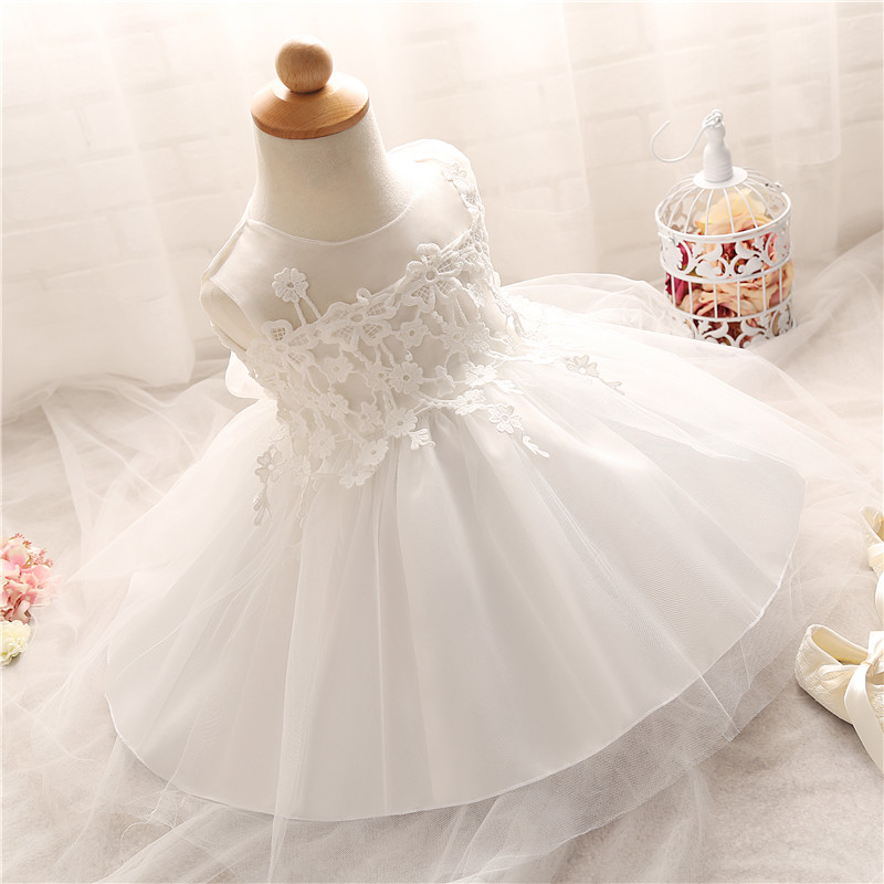 Baby Girl Dresses Infant Princess Little Girls 1 Year Baby Girl Birthday Party Dress Kids Christening Dresses For Girls Of 0-2Y(China (Mainland))