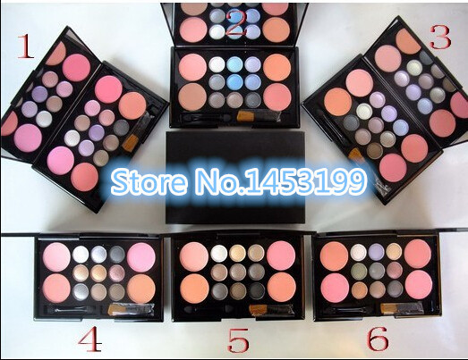 Newest Fashion 9color eyeshadow 4 color blusher Makeup Palette(1Pcs)Free shipping(China (Mainland))