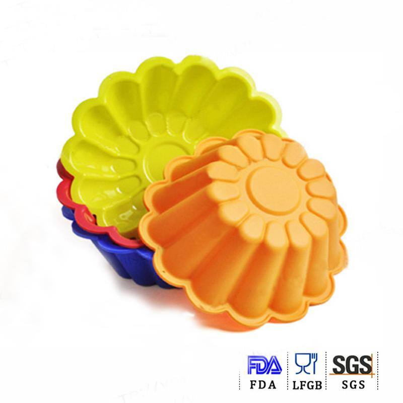 silicone cake mould mum flower chocolate sugar candy baking mold oven microwave freezer BPA free kicthen cooking tool(China (Mainland))
