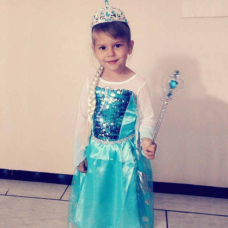 2015 Hot Selling New Style Girls Fashion princess Dress Children's Cloting,Children's dress,elsa dress and anna dress(China (Mainland))
