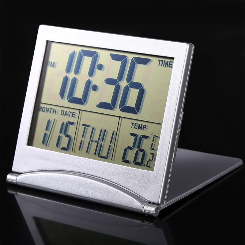 Foldable Design Large LCD Display Screen Desktop Table Electronic Digital Snooze Alarm Clock Thermometer Calendar Timer(China (Mainland))