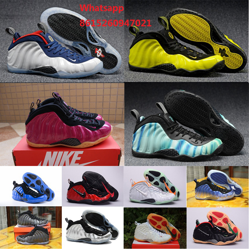 New 2016 cheap mens air penny hardaway shoes maroon USA pure platinum optic yellow Northern Lights for sale with original box(China (Mainland))
