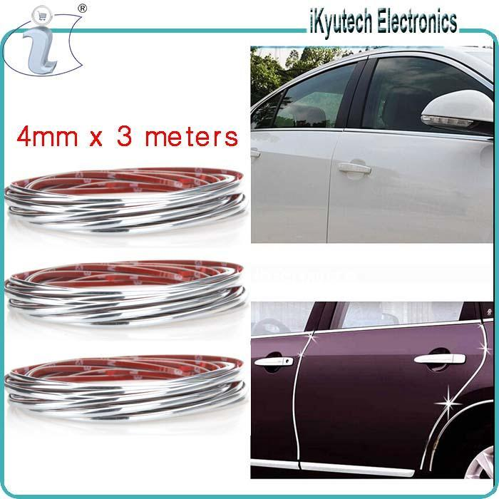 universal chrome trim molding fit car truck suv strip grill triple decoration sticker interior. Black Bedroom Furniture Sets. Home Design Ideas