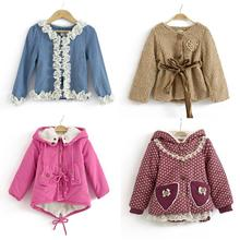 All only $9.9!! CLEARANCE ON SALE many style selling below cost! Autumn Winter children's clothing korean girls thicken jacket(China (Mainland))