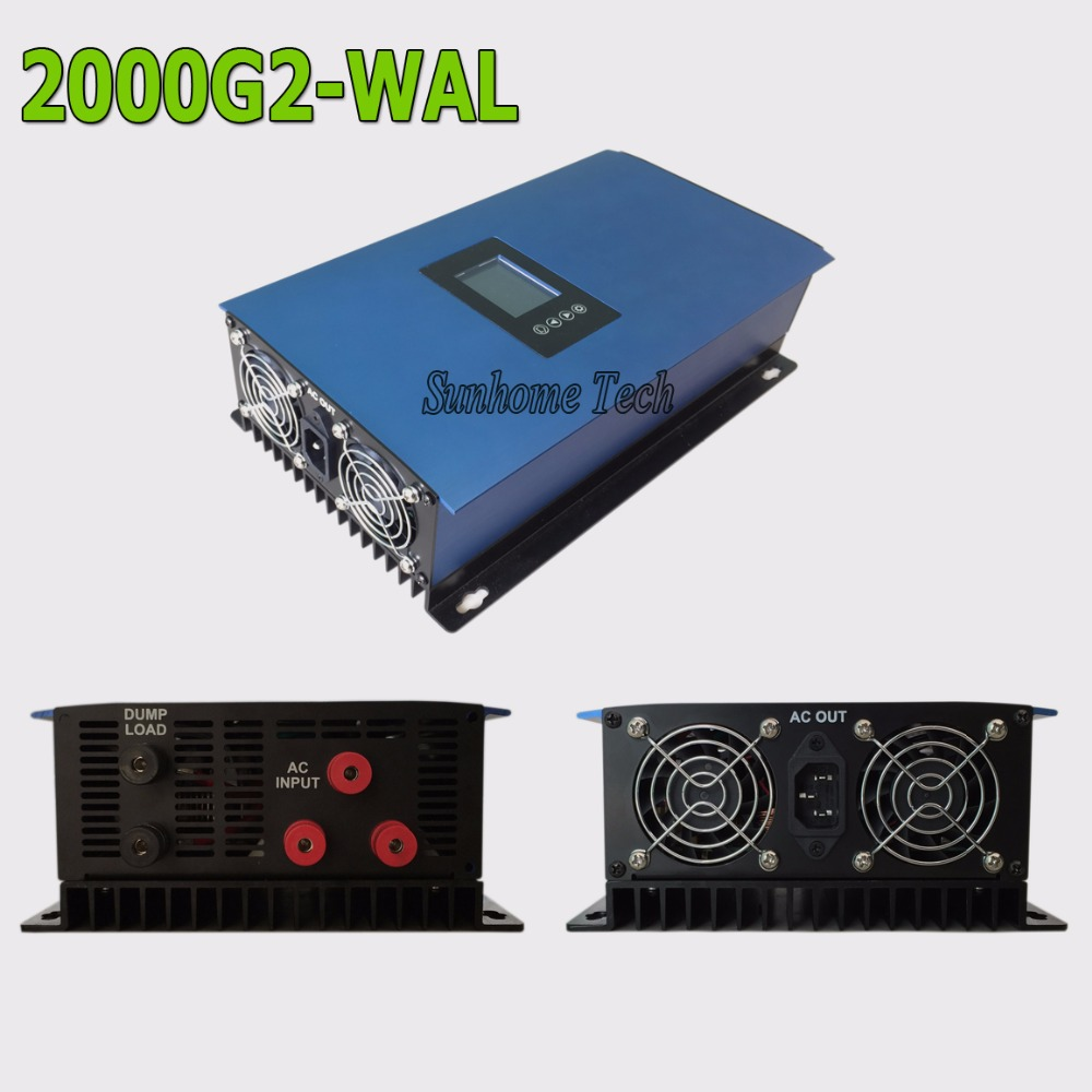 2000W AC output wind turbine generator grid tie inverter with LCD&Dump Load resistor,45-90V to AC230V MPPT Pure Sine Wave(China (Mainland))