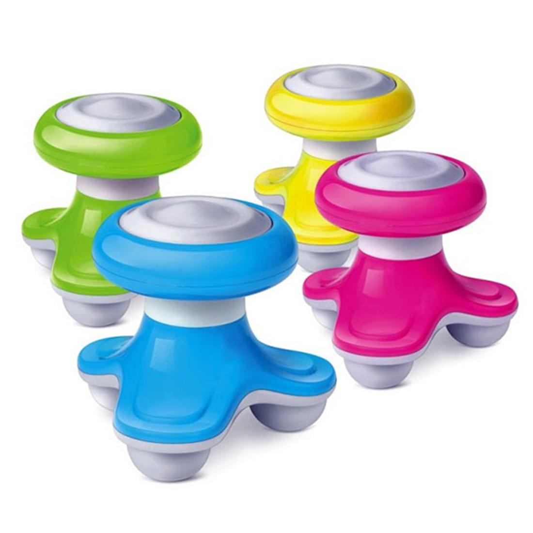 Hot Mini USB Battery Full Body Massage Wave Vibrating Electric Handled Massager head massager Random Color