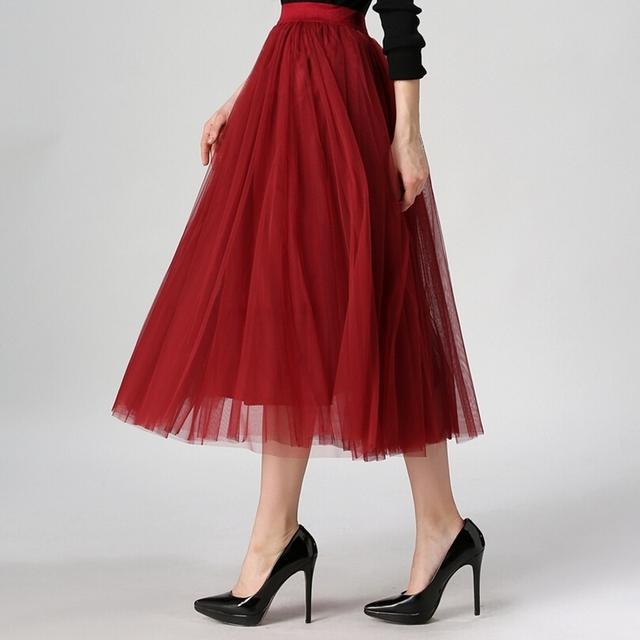 2016 осень новая мода faldas корейский стиль 8 м большие качели макси юбки женская зимний юп высокая талия туту взрослых длинные тюль юбка