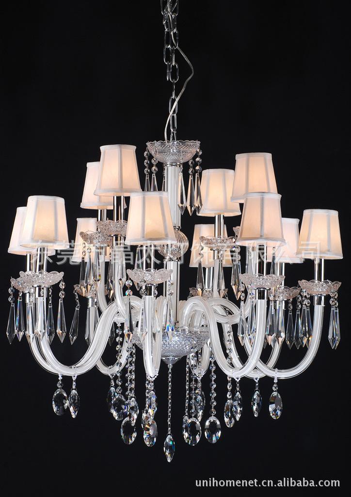 Pendant Lights Modern fabric, modern crystal clubs, engineering, hotel lighting supplier Crystal Lamp(China (Mainland))