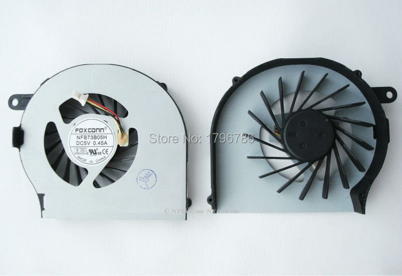 Original Foxconn NFB73B05H CPU cooling fan for HP CQ72 G72 DC5V 0.45A fully test and free shipping(China (Mainland))