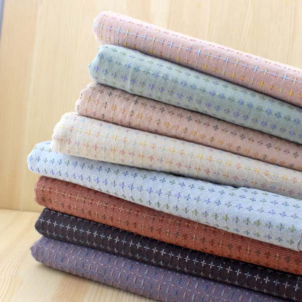 50*70CM Calatrava Cross 8 color Yarn dyed fabric linen cotton Vintage Craft Workshop DIY fabrics Professional quilt patchwork(China (Mainland))