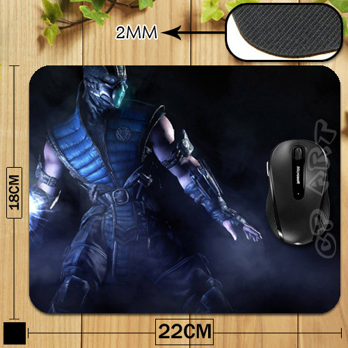 Free Shipping Sub-Zero In Mortal Kombat X Durable Soft Mouse Pad for Gamer Gaming Mouse Mat<br><br>Aliexpress
