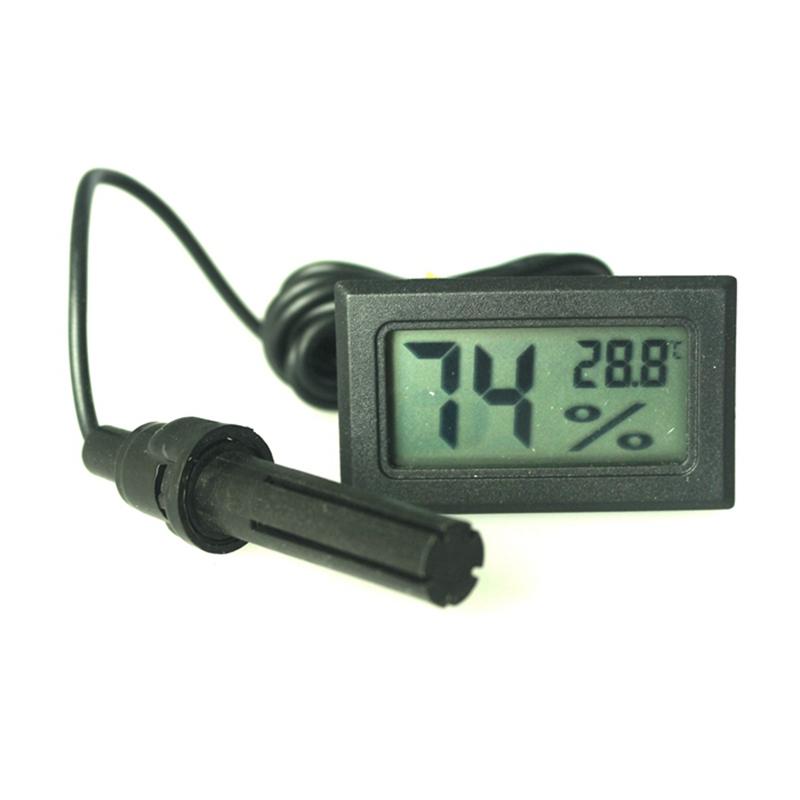 Mini lcd digital thermometer hygrometer humidity temperature meter fridge freezer free shipping