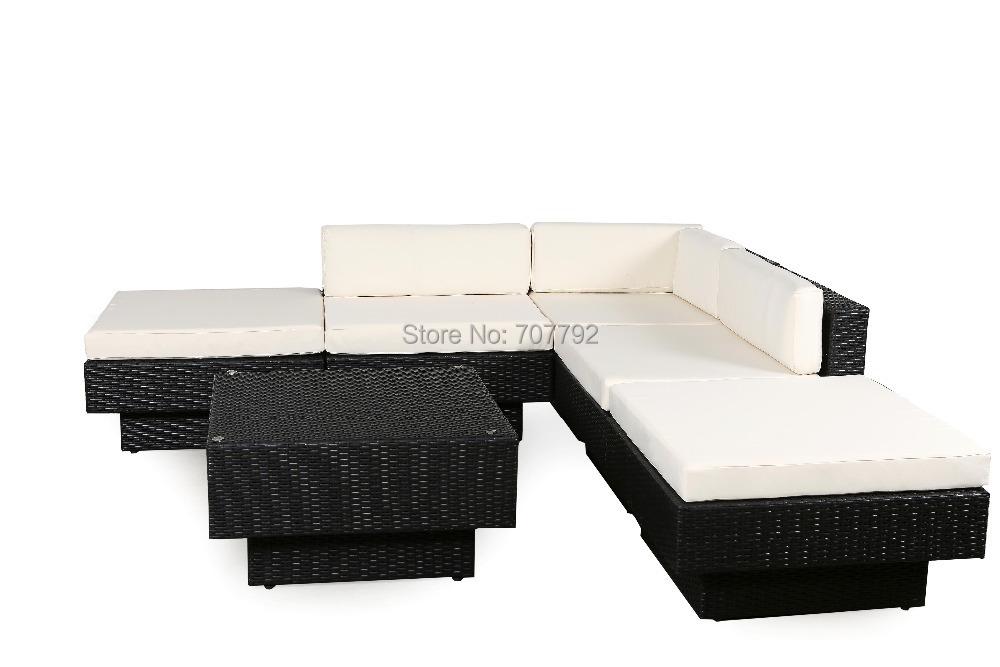 2016 Hot Sale outdoor PE rattan wicker high back sofa set(China (Mainland))