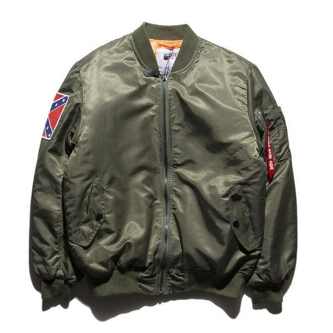 Men Flight Bomber Jacket Streetwear New 2016 Letters Printed At Back Male Aviator Jackets Baseball Jackets Free Shipping(China (Mainland))