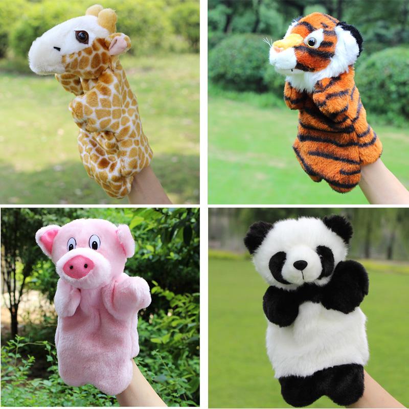 plush hand puppet bear fox panda rabbit alpaca kids toys animal hand puppets for kids kawaii plush doll kindergarten baby toys(China (Mainland))