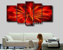 Buy Free large modern abstract line oil painting framed canvas wall art home decoration cool picture 5 panels for $63.90 in AliExpress store
