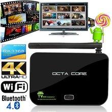new Z4 RK3368 TV Box Android 5.1 Octa Core 2GB 16GB 4K Bluetooth 2.4G/5G dual Wifi 3D Moive Smart Media Player Kodi Fully Loaded