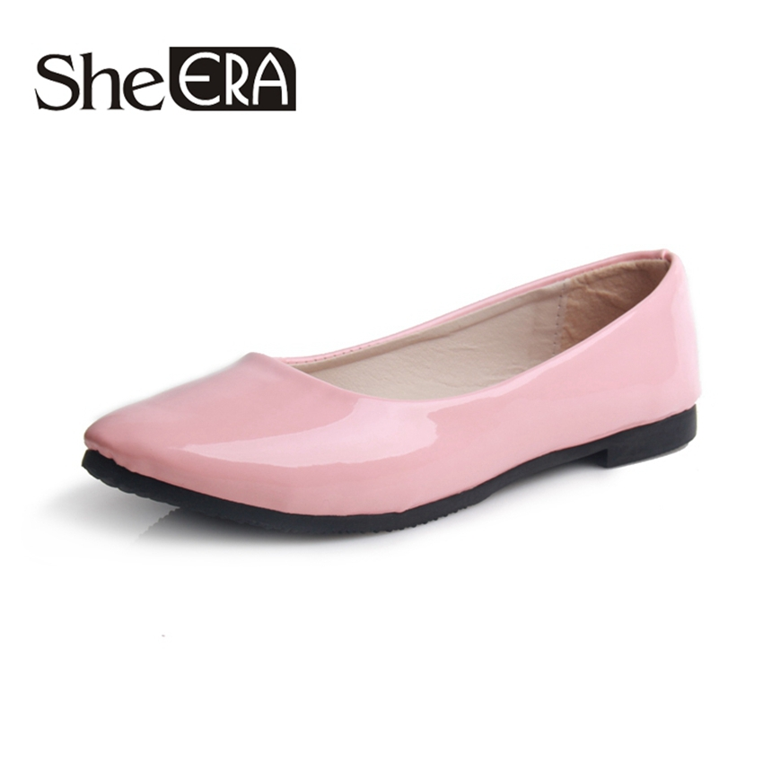 New 2015 Fashion Trend Women Shoes Solid Candy Color Big Yards PU Shoes Woman Flats Casual Variety Comfortable Shoes(China (Mainland))