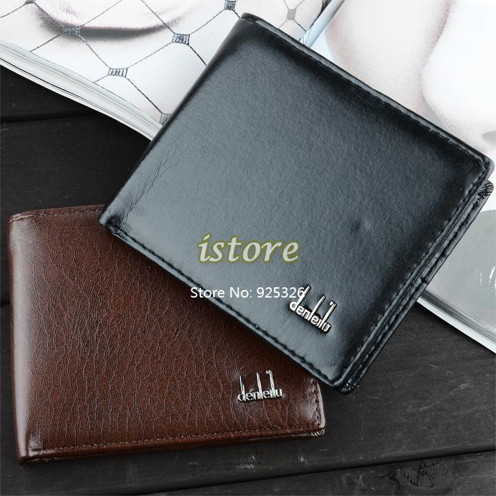 Big Discount!!! Mens Leather Wallets/ Men Coin Purse/ Bifold Credit Card Clutch Holder Wallets Purse 41(China (Mainland))