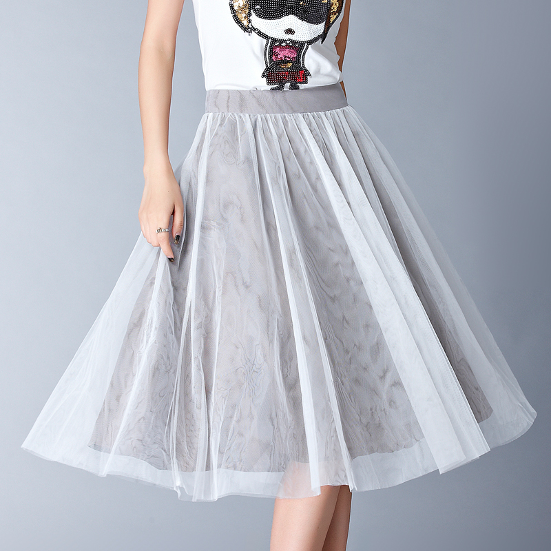 2015 summer style high waist tutu tulle skirt saia