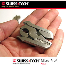 Quality SWISS TECH mini multi tool - 8 in 1 - Micro multitool keychain pocket tools Micro-Pro XL900(China (Mainland))
