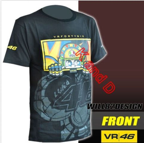 Freeshipping 2015 New Official Rossi VR46 Cartoon 2013 T'Shirt Kids(China (Mainland))