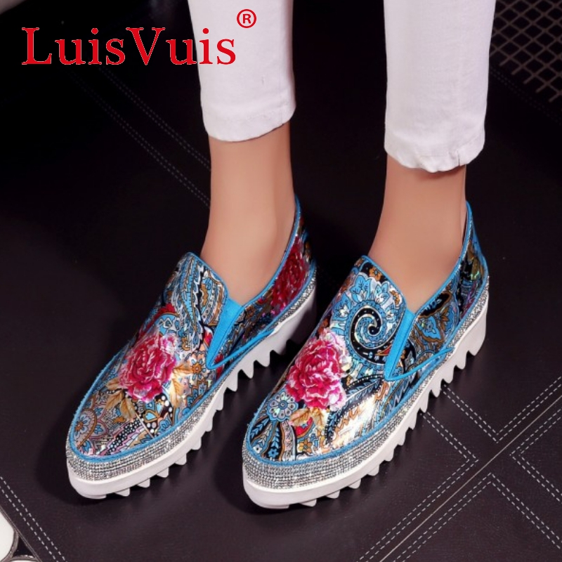 women real genuine leather party casual flats leisure shoes sexy fashion brand flower ladiy shoes Zapatos Mujer size 34-39 R7103<br><br>Aliexpress