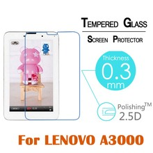 Ultra thin 0.3MM 9H Arc edge 2.5D Tempered Glass Front Screen Protector Film For Lenovo A3000 7″LCD Tablet Protective Glass Film
