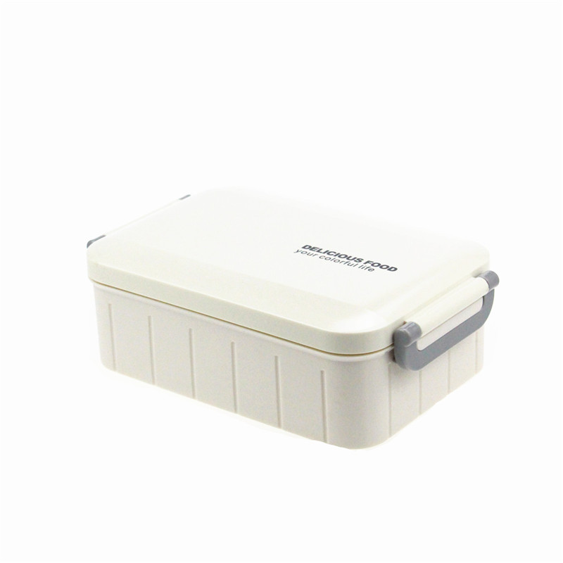 Japanese style Plastic Bento Lunch Box Food Storage Containers with spoon,Microwave and Dishwasher Safe,Outdoor Portable Bento(China (Mainland))