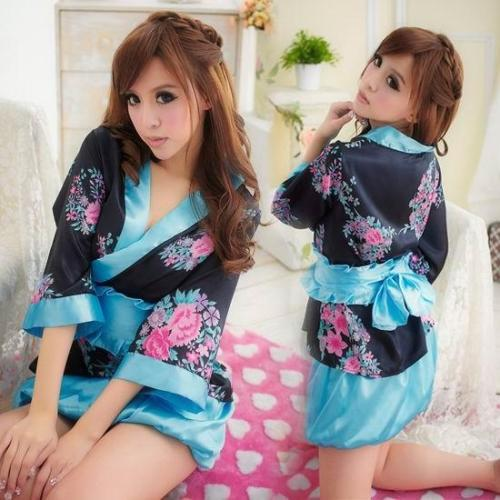 Sexy Lingerie Hot Lingerie Sexy Ladies Japanese Kimono New Romantic Temptation Stage 3-piece Uniform Set Role Dress(China (Mainland))